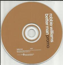 ROBBIE WILLIAMS  Betterman MADE IN MEXICO PROMO DJ CD single 2000 USA seller