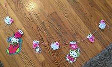 SANRIO HELLO KITTY CHRISTMAS CARD HANGER Holder DISPLAY HOLIDAY GARLAND PINK