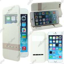 """Accessoire Housse Coque Etui S-View Flip Cover Blanc Apple iPhone 6S 4,7"""""""