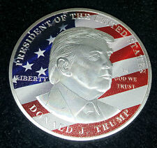 Donald Trump Silver Coin President Stars & Stripes In God We Trust White House