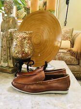 Kenneth Cole Reaction Design 213172 Cognac Leather Loafer Men Size 13 Mrp $80