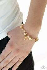 Stretchy Bracelet ~ *New Release* ~*Wow* Paparazzi ~ Right On The Romance Gold