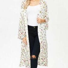 White Birch Kimono Floral Maxi Open S