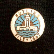 More details for enamel metal pin badge butlins original filey 1947 holiday camp. reeves rare#069
