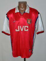 ARSENAL LONDON 1998/1999 HOME FOOTBALL SHIRT JERSEY NIKE SIZE XL ADULT