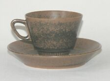 Knabstrup Pottery Denmark Noddebo cup & saucer Johannes Hansen 1960s MCM