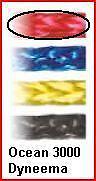 3mm per-10 ft Red Ocean 3000, FSE Robline dyneema SK75 OC3-3R like Spectra