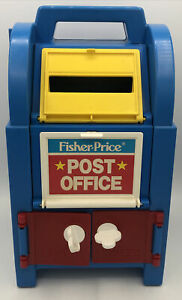 Vintage Fisher-Price 1989 Post Office & Mail Box Centerwith Accessories
