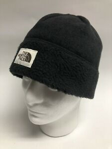 THE NORTH FACE SWEATER Hat FLEECE BEANIE One Size 👍 Solid Black Unisex
