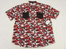 $52 NWT Mens Enyce Sean Combs Camo Print Button Down Shirt Urban 3XL 3X 3XB M977
