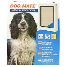 Lockable Medium Dog Flap  / Cat Flap For Upvc / Timber Door - White (215W)