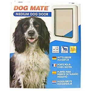 Lockable Medium Dog Flap  / Cat Flap For Upvc / Timber Door - White (215W)