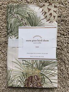 POTTERY BARN Snow Pine Bird Cotton EURO Shams - NEW NLA (multiple)