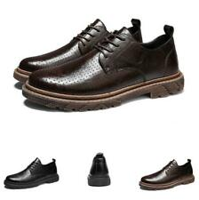 Retro Mens Dress Formal Business Faux Leather Shoes Oxfords Carved Breathable L