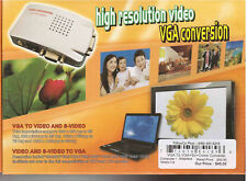VGA to Composite and S-Video Conversion Box