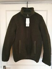 Uniqlo Pile Lined Sherpa Fleece Full-Zip Jacket Dark Green - XS