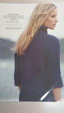 Cleckheaton Pattern #426 Ladies Aran Jacket to Knit With Superfine Merino Wool