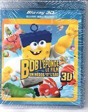 BOB L'EPONGE LE FILM       bluray 3 D + bluray   neuf   ref0509176