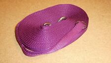 Dog Training Lead/Line, 20mm wide PURPLE MAUVE Nylon Webbing, 10 metres