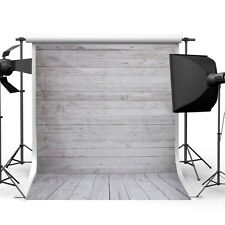 Vinyl Vintage Wood Floor Wall Backdrop Background Studio Photography Props 3x5FT