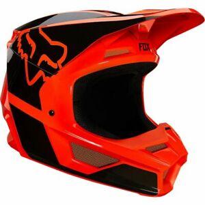 Orange Adult V1 Fox Helmet With Mips and Magnetic Visor Release System 25152-824