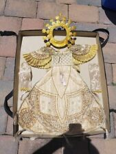 """Religious Historic Gold Halo and Cherub Fancy Dress Costume Outfit  Apron 22""""L"""