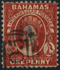 """Bahamas 1860 """"Königin Viktoria"""" 1 Pence, MiNr 2 C gestempelt, used"""
