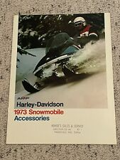 1973 AMF HARLEY DAVIDSON SNOWMOBILE ACCESSORIES BROCHURE