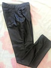Simply Vera  Vera Wang Faux Leather Jeans Black Size 4