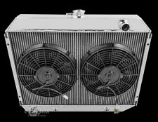 "4 Row Radiator 1967-1973 MOPAR Big Block  26"" Core & (2) 12"" Spal Fans"