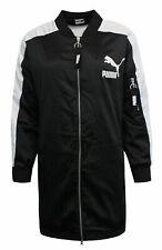 Puma Archive T7 Women's Bomber Jacket Black White Zip Up 574978 01