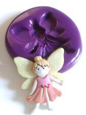Fairy ragazza (B) STAMPI IN SILICONE 30mm TORTA DECORARE GLASSA FONDANT PASTA DI ZUCCHERO TOOL