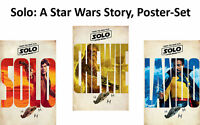 Solo: A Star Wars Story - Triptychon - Poster Plakat Druck - jeweils 61x91,5 cm