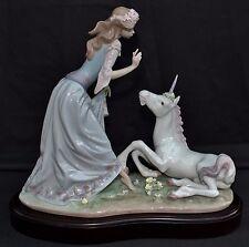 "SIGNED LLADRO ""Princess & the Unicorn"" a 1500 Ltd Ed Spanish Figurine MPN 1755"