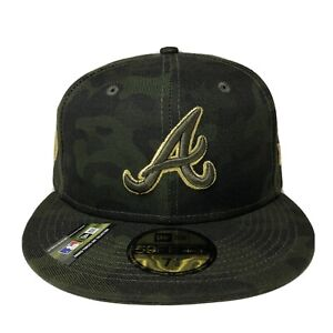 MLB 2019 Atlanta Braves Armed Forces Day New Era 59FIFTY Fitted Hat 7 1/8 New