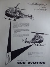 6/1959 PUB SUD AVIATION ALOUETTE II DJINN HELICOPTER HUBSCHRAUBER FRENCH AD