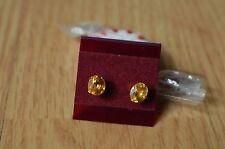 1.32ct  Neon Orange Calcite Earrings 14K Yellow Gold VVS ~ Very Rare