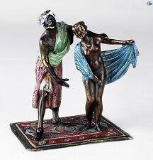 Original Franz Bergman Geschützt 'Master & Slave' Vienna Bronze Statue - HW 'B'