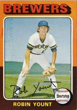ROBIN YOUNT 1975 ROOKIE CARD IN MINT CONDITION AND RARE COLLECTIBLE BREWERS