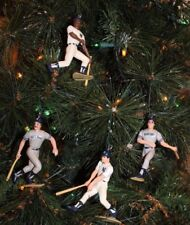 NEW YORK YANKEES CHRISTMAS ORNAMENTS SET OF 4 MATTINGLY WINFIELD CLARK MAAS