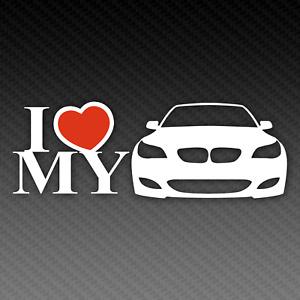 BMW E60 E61 Love Sticker 20cm x 8cm M5 Tuning EDM Touring Limousine