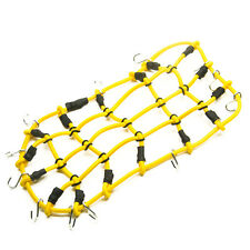 Yellow RC Car Roof Rack Cargo Elastic Net w/ Hooks For 1:10 AXIAL SCX10 Truck