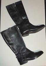 Stiefel Damen GEOX Absatz 3cm EU39 GlattLeder Schwarz Luftdurchlässige Decksohle