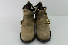 BURBERRY Beige Leather Ankle Boots size Eu 35