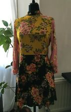 BNWT Zara Patchwork Floral Dress - Size L UK 12 / 14