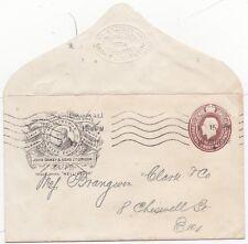 # 1918 POSTAL STATIONERY 1½d JOHN OAKEY WELLINGTON KNIFE POLISH ADVERTISING ENV