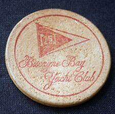 Vintage BISCAYNE BAY YACHT CLUB Miami Bar Chit Token