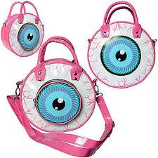 Kreepsville 666 Eyeball Pink Cat Clutch Bag Purse Punk Horror Halloween Cat
