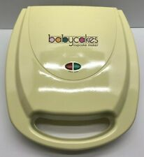 Babycakes Mini Cupcake Maker Pastel Yellow CC-2828 Used Good  Working Condition