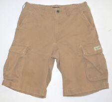Men's 30 Polo Jeans Co Ralph Lauren Cargo Shorts Khaki Cotton Snap Close Pockets